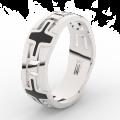 Pánský snubní prsten Danfil DLR3043 bílé zlato, bez kamene, povrch lesk