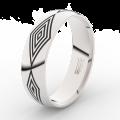 Pánský snubní prsten Danfil DLR3075 bílé zlato, bez kamene, povrch lesk