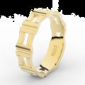 Pánský snubní prsten Danfil DLR3085 žluté zlato, bez kamene, povrch lesk