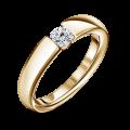 Diona   Zásnubní prsten se středovým diamantem 0.25ct, žluté zlato