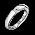 Diona   Zásnubní prsten se středovým diamantem 0.25ct, bílé zlato