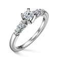 Sierra | Zásnubní prsten se středovým kamenem 0.25 ct, bílé zlato, s diamanty
