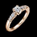 Sierra | Zásnubní prsten se středovým kamenem 0.25 ct, růžové zlato, s diamanty