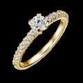 Aria | Zásnubní prsten se středovým kamenem 0.25 ct, žluté zlato, s diamanty