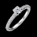 Aria   Zásnubní prsten se středovým kamenem 0.25 ct, bílé zlato, s diamanty