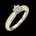 Florence | Zásnubní prsten se středovým diamantem 0.25 ct, žluté zlato
