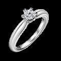 Florence | Zásnubní prsten se středovým diamantem 0.25 ct, bílé zlato