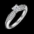 Luna   Zásnubní prsten se středovým kamenem 0.25 ct, bílé zlato, s diamanty