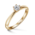 Minerva | Zásnubní prsten se středovým diamantem 0.25 ct, žluté zlato
