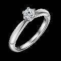 Minerva | Zásnubní prsten se středovým diamantem 0.25 ct, bílé zlato
