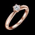 Minerva   Zásnubní prsten se středovým diamantem 0.25 ct, růžové zlato