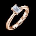 Arlene   Zásnubní prsten se středovým diamantem 0.730ct, růžové zlato
