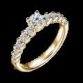 Dafné   Zásnubní prsten se středovým kamenem 0.25ct, žluté zlato, s diamanty