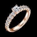 Dafné   Zásnubní prsten se středovým kamenem 0.25 ct, růžové zlato, s diamanty