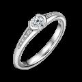Harmonia | Zásnubní prsten se středovým kamenem 0.25ct, bílé zlato, s diamanty