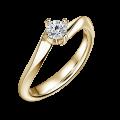 Freya | Zásnubní prsten se středovým diamantem 0.25ct, žluté zlato