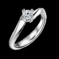 Freya | Zásnubní prsten se středovým diamantem 0.25ct, bílé zlato