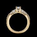 Sierra   Zásnubní prsten se středovým kamenem 0.145ct, žluté zlato, s diamanty