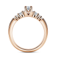 Sierra | Zásnubní prsten se středovým kamenem 0.145ct, růžové zlato, s diamanty