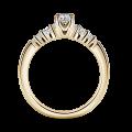 Sierra | Zásnubní prsten se středovým kamenem 0.180ct, žluté zlato, s diamanty