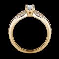 Luna   Zásnubní prsten se středovým kamenem 0.25 ct, žluté zlato, s diamanty