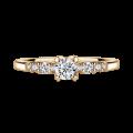 Sierra | Zásnubní prsten se středovým kamenem 0.25 ct, žluté zlato, s diamanty