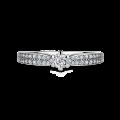 Florence Side Stones   Zásnubní prsten se středovým kamenem 0.085ct, bílé zlato, s diamanty