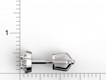 Rozměry náušnic - měřítko