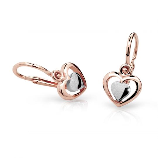Baby earrings Danfil C1604 Rose gold, Front backs