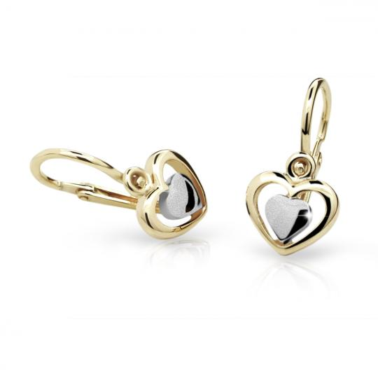 Baby earrings Danfil C1604 Yellow gold, Front backs