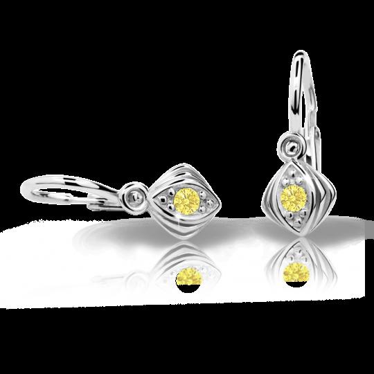 Babyohrringe Danfil C1897 Weißgold, Yellow, Die Brisur
