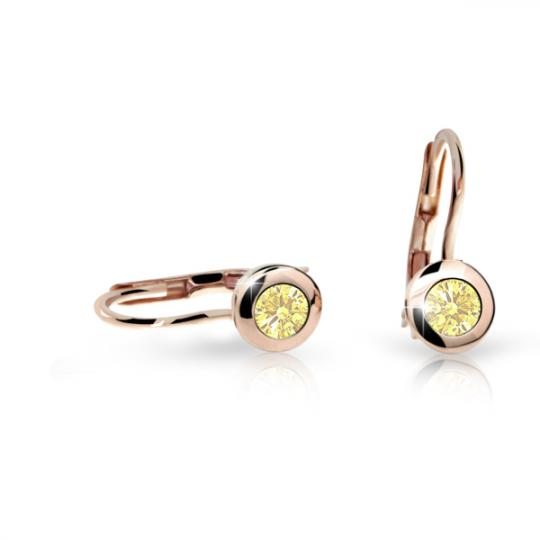 Children's earrings Danfil C1537 Rose gold, Yellow, Leverbacks