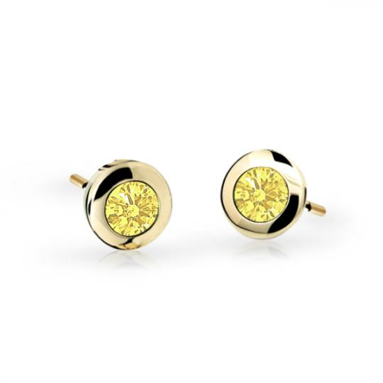 Children's earrings Danfil C1537 Yellow gold, Yellow, Butterfly backs