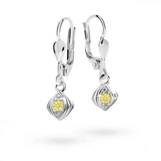 Children's earrings Danfil C1897 White gold, Yellow, Leverbacks