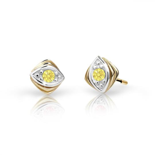 Children's earrings Danfil C1897 Yellow gold, Yellow, Butterfly backs