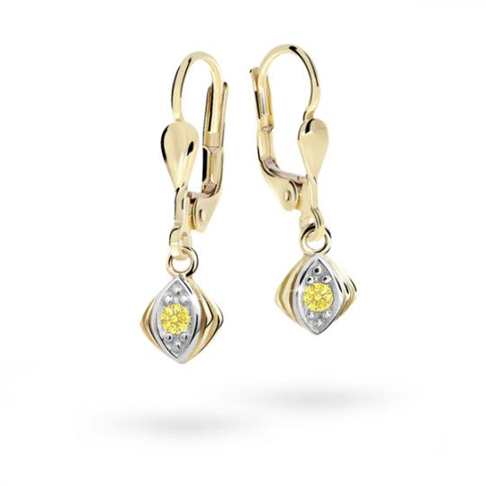 Children's earrings Danfil C1897 Yellow gold, Yellow, Leverbacks