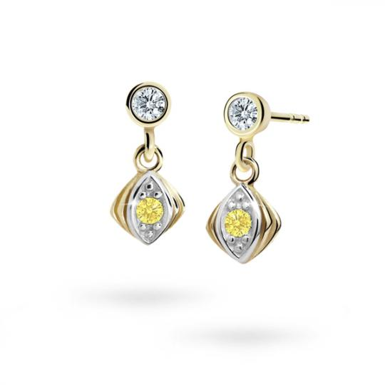 Children's earrings Danfil C1897 Yellow gold, Yellow, Screw backs
