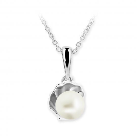 Dětský perlový přívěsek Danfil C2394 z bílého zlata, přírodní sladkovodní perla