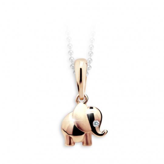 Kinder Anhänger Danfil Elefant C1955 Rotgold