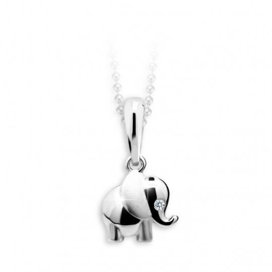 Kinder Anhänger Danfil Elefant C1955 Weißgold