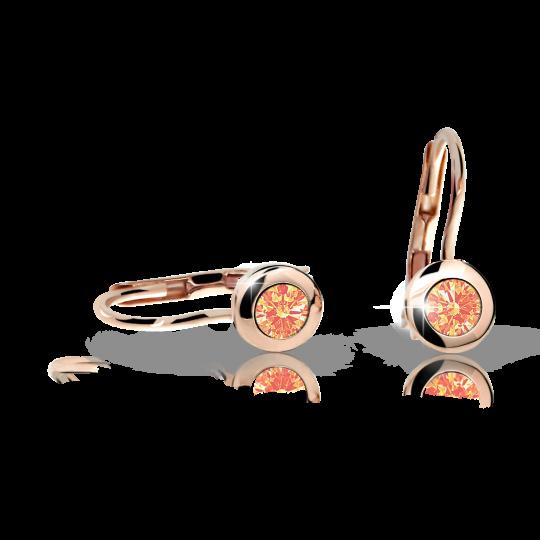 Kolczyki dziewczęce Danfil C1537 różowego, Orange, zapięcie patentowe