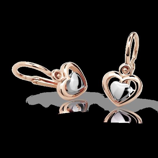 Kolczyki dziewczęce Danfil C1604 różowego, brizura