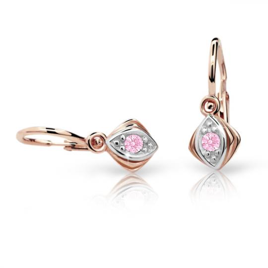 Kolczyki dziewczęce Danfil C1897 różowego, Pink, brizura