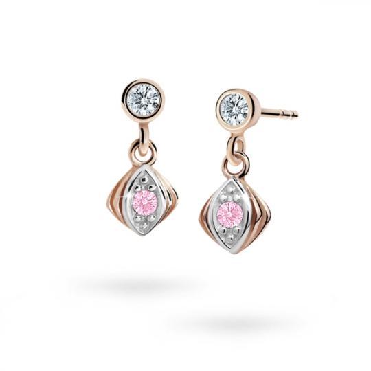 Kolczyki dziewczęce Danfil C1897 różowego, Pink, puzeta