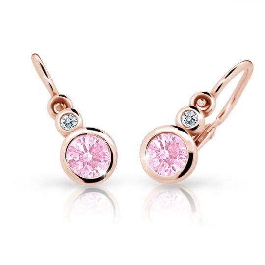 Kolczyki dziewczęce Danfil C1984 różowego, Pink, brizura
