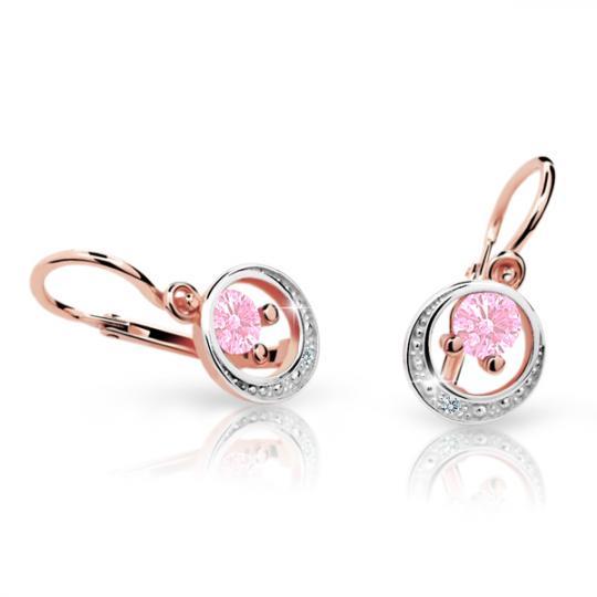 Kolczyki dziewczęce Danfil C1997 różowego, Pink, brizura
