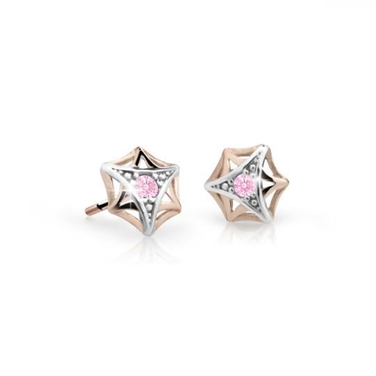 Kolczyki dziewczęce Danfil C2209 różowego, Pink, puzeta