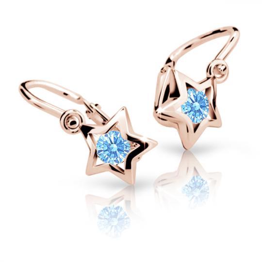 Kolczyki dziewczęce Danfil gwiazdki C1942 różowego, Arctic Blue, brizura