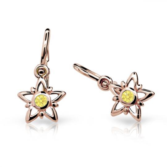 Kolczyki dziewczęce Danfil gwiazdki C1996 różowego, Yellow, brizura