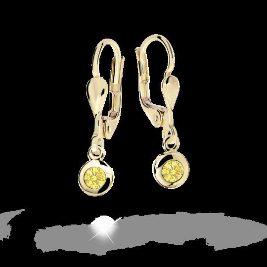 Pendientes de niña Danfil C1537 oro amarillo, Yellow, cierre de pala